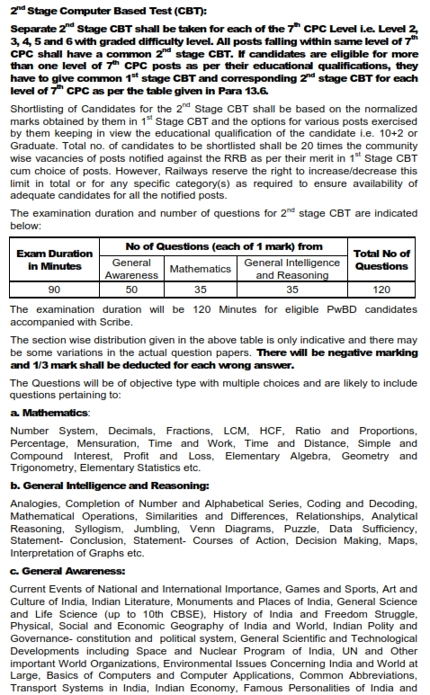 RRB NTPC Syllabus Page 2